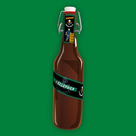 Kellerbier Flasche Detail