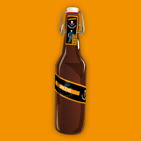 Spezial Flasche Detail