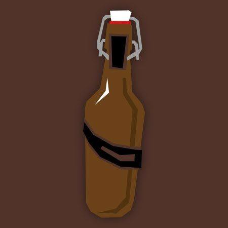 Dunkles Flasche